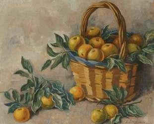 Корзина с яблоками — Зинаида Серебрякова
