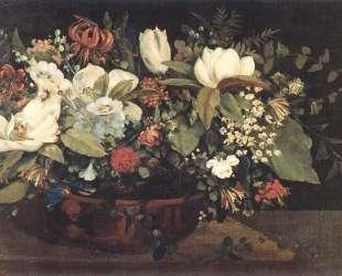 Корзина цветов — Гюстав Курбе