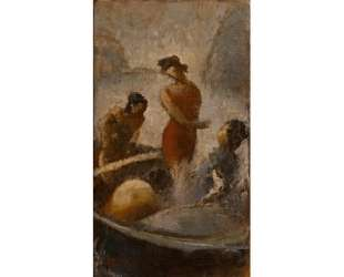 Bathers on the boat — Теофрастос Триантафиллидис