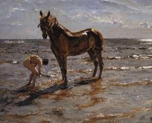 Купание лошади — Валентин Серов