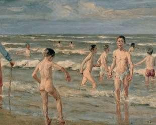 Bathing boys — Макс Либерман