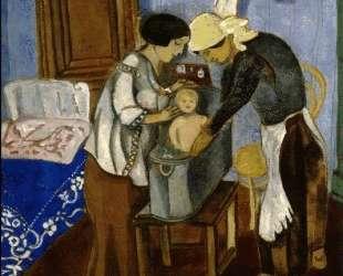 Купание ребенка — Марк Шагал
