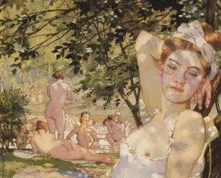 Купальщицы на солнце — Константин Сомов