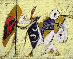 Битва на закате с Богом кукурузы (Композиция № 1) — Аршил Горки