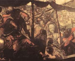 Battle between Turks and Christians — Тинторетто