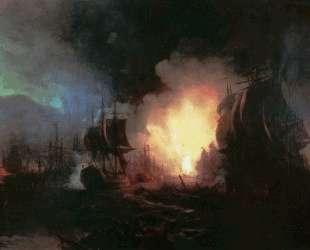 Чесменская битва — Иван Айвазовский