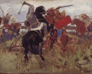 Battle of the Scythians with the Slavs (sketch) — Виктор Васнецов