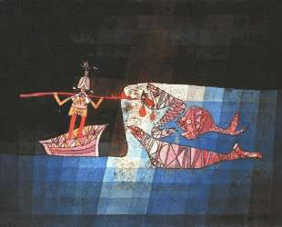 Battle scene from the comic fantastic opera 'The Seafarer' — Пауль Клее