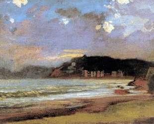 Морской залив в Ливорно. Закат солнца — Николай Ге