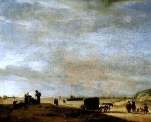 Beach at Scheveningen — Адриан ван де Вельде