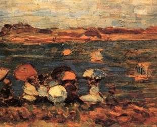 Beach Scene, St. Malo — Морис Прендергаст