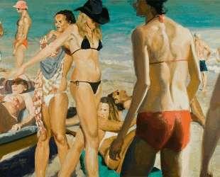 Beach Scene with Pink Hat — Эрик Фишль