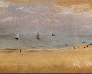 Побережье с парусными лодками — Эдгар Дега