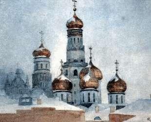 Колокольня Ивана Великого и купола Успенского собора — Василий Суриков