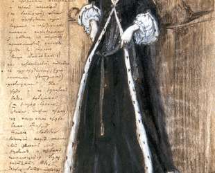 Берта Эскиз костюма В. Ф. Комиссаржевской — Александр Бенуа