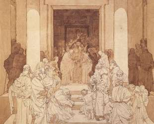 Betrothal of Mary and Joseph — Михаил Врубель