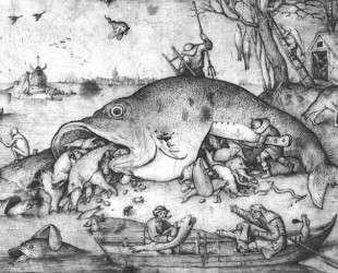 Большие рыбы пожирают маленьких — Питер Брейгель Старший