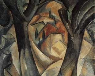 Большие деревья в Эстаке — Жорж Брак