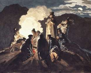 Бивуак на кратере, Везувий — Карл Брюллов