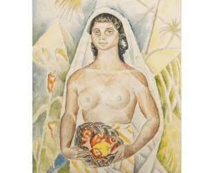 Black woman with peppers — Маревна