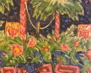 Комната Арапа. Фрагмент. Эскиз декорации — Александр Бенуа