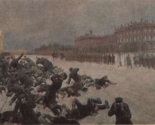 Bloody Sunday. Shooting workers near the Winter Palace January 9, 1905. — Иван Владимиров