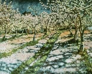 Цветущий яблоневый сад — Николай Богданов-Бельский