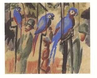 Blue Parrots — Август Маке