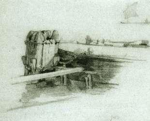 Boat at Bulkhead — Джон Генри Твахтман (Tуоктмен)