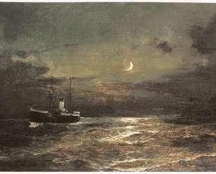 Boat at moonlight — Константинос Воланакис
