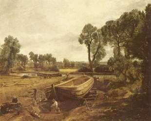 Строительство лодки во Флэтворде — Джон Констебл
