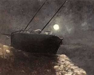 Boat in the Moonlight — Одилон Редон