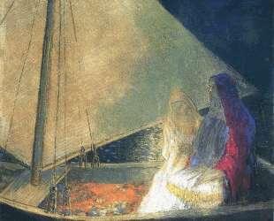 Boat with Two Figures — Одилон Редон