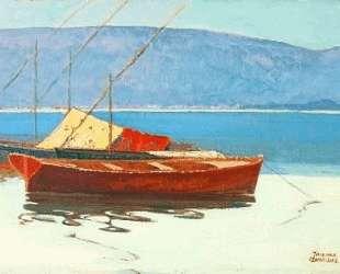 Boats in calm water — Теофрастос Триантафиллидис