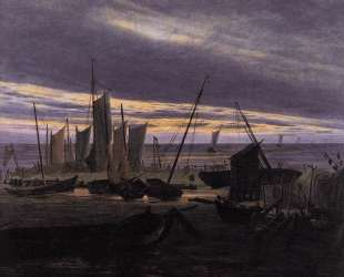 Boats in the Harbour at Evening — Каспар Давид Фридрих