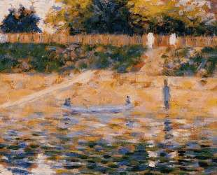 Лодки близ побережья в Ансьере — Жорж Сёра