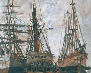 Лодки на ремонте — Клод Моне