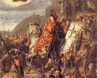 Bohdan Khmelnytsky with Tugai Bey near Lviv — Ян Матейко