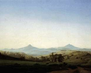 Bohemian Landscape with Mount Milleschauer — Каспар Давид Фридрих