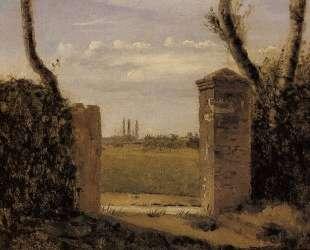 Буа-Гийом, близ Руана, ворота с двумя столбами — Камиль Коро