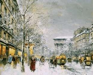 Boulevard de la Madeleine, Sous la Neige — Антуан Бланшар