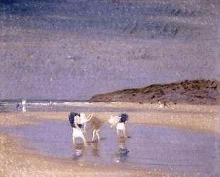 Boulogne Sands. Children Shrimping — Филип Уилсон Стэр