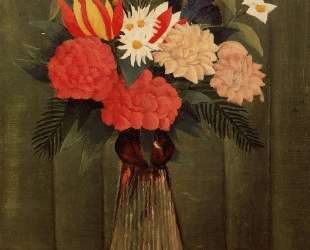 Bouquet of Flowers with an Ivy Branch — Анри Руссо