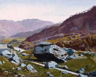 Bowder Stone, Borrowdale — Джон Эткинсон Гримшоу