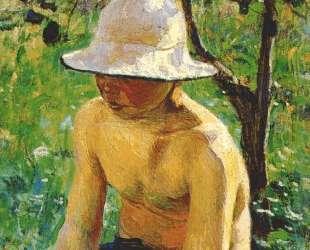 Мальчик в саду — Виктор Борисов-Мусатов