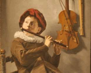 Boy Playing the Flute — Юдит Лейстер