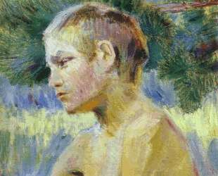 Сидящий мальчик — Виктор Борисов-Мусатов