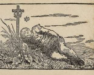 Boy sleeping on a grave — Каспар Давид Фридрих