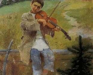 Мальчик со скрипкой — Николай Богданов-Бельский
