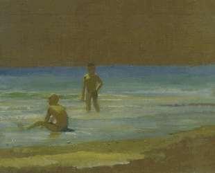 Мальчики у берега моря. Этюд — Николай Ге